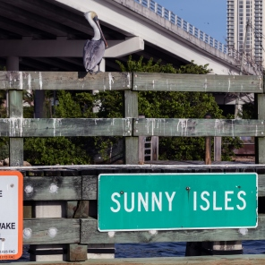 Entering the Sunny Isles...