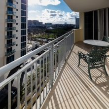 Balcony View - One Bedroom Unit, 10th Floor