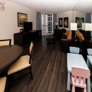 Living Room - Two Bedroom Unit, 16th Floor