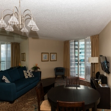 Living Room - Two Bedroom Unit, 22nd Floor