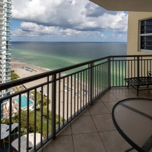 View from the balcony - Two Bedroom Unit, 22nd Floor